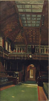 interior of the house of commons by charles sims