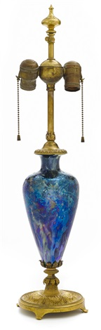 cypriote lamp base by louis comfort tiffany