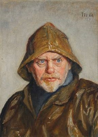 portait of a fisherman from skagen by michael peter ancher