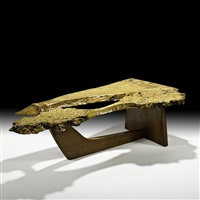 sled base coffee table by mira nakashima-yarnall