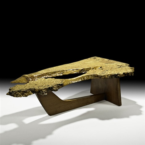 sled base coffee table by mira nakashima yarnall