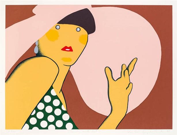lady with hat from women by kiki kogelnik