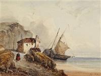 küstenlandschaft (vue prise à l'île d'aurigni) by henri le hon