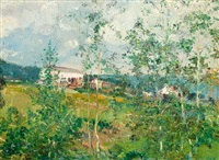 hillside in summer by oliver dennett grover