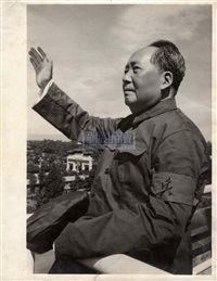 chaichairman mao interviewing the redguards (3 works) by lv xiangyou and qian sijie