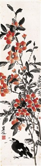 flower and mynah by qi baishi and ling wenyuan