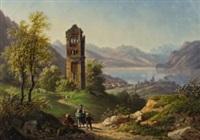 goldswil am brienzersee mit blick auf die ruine schadburg by jacob alt