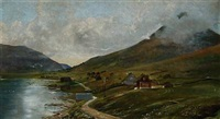 coastal scene from the faroe islands by flora heilmann