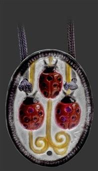 anhaenger mit dekor von marienkäfer by gabriel argy-rousseau