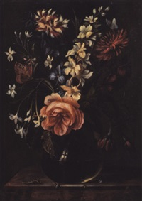 blumenstück in kugeliger glasvase by ambrosius bosschaert the younger