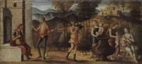 szene aus der römischen (?) sage by giovanni battista cima da conegliano