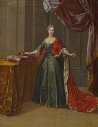 bildnis einer fürstin (wohl maria antonia walburgis, kurfürstin von sachsen, prinzessin von bayern) by pieter jacob horemans