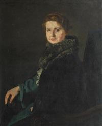 "porträt der ehemaligen direktorin des dresdener hotels ""stadt gotha"" by thomas baumgartner"
