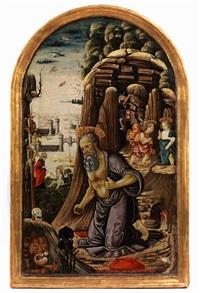das bussgebet des heiligen hieronymus und weitere episoden aus dem neuen testament by arcangelo di jacopo del sellaio