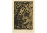 autoportrait, fond ocre by marc chagall