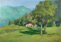 a trentino landscape by giuseppe pesa