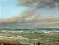 coastal scenery at hornbaek with kullen in the backgrund by jörgen roed
