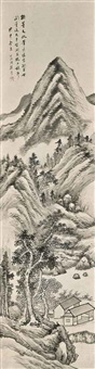 landscape after the style of dong qichang by gu yun