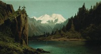 landscape with snow covered mountains by ransom gillet holdredge