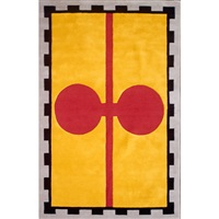 chivalry yellow contemporary area rug by david shaw nicholls