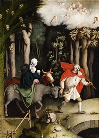 the flight into egypt by german school (16)