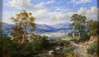 highland valley at harvest time by mcneil macleay