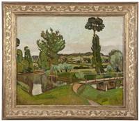 paysage de l'yonne by georges andre klein