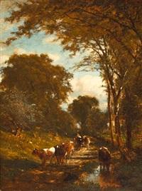 cattle watering by james mcdougal hart
