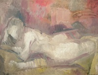 reclining female nude by dorothy mead