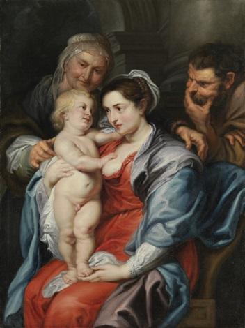heilige familie mit der hl. anna by sir peter paul rubens