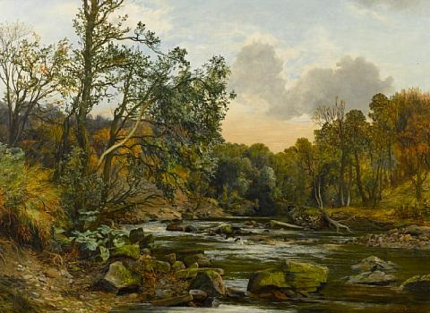 river landscape by james faed
