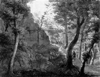 die ruine im walde by friedrich wilhelm pose
