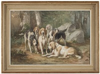 hunting dogs by jules bertrand gélibert