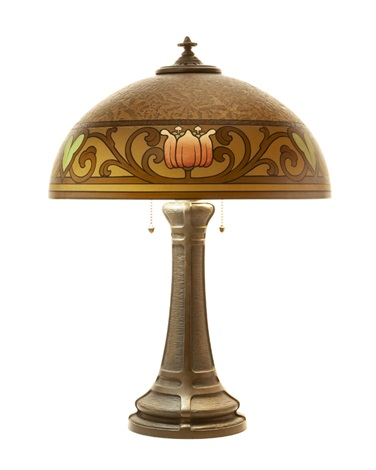 An Arts U0026 Crafts Table Lamp, Bradley U0026 Hubbard By Bradley U0026 Hubbard