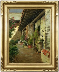 the garden path - san juan bautista mission by william adam