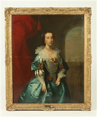 constance lucy of charlecote, wife of sir john burboyne by british school (19)
