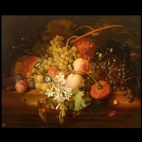 floral still life in dutch manner by honerine emeric