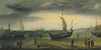 küstenlandschaft mit holländischen segelschiffen by hendrik cornelisz vroom