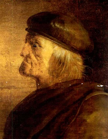 porträt eines älteren mannes im profil by jan van de venne