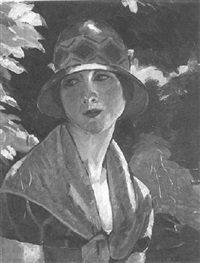 portrait de dame by paul-léon bleger