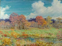 fall landscape by charles courtney curran
