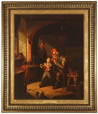 the soldier and his nephew by gerrit dou