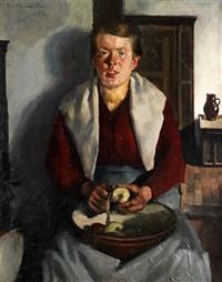 bildnis einer jungen bauersfrau by thomas baumgartner
