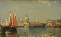Grand Canal Venice with the Doge Palace, 1906