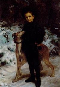 en dreng med en hund by henrik benedikt olrik
