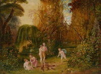 playing skittles on a riverbank by dean wolstenholme the younger