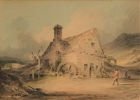 forge near dolgelly, merionethshire by samuel prout