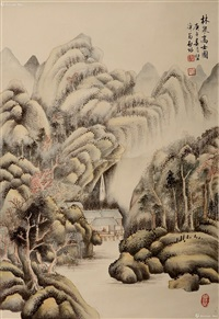 林泉高士图 by qi gong