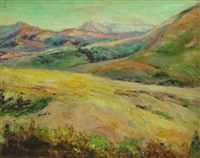 mountainous california landscape by marie b. kendall