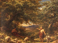 shepherds at rest by william linnell